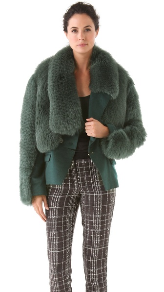 Peter Som Wool & Fox Coat