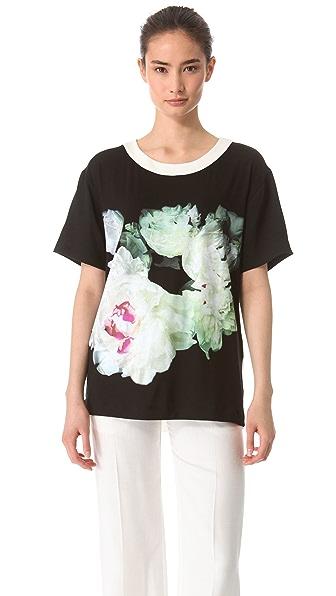 Peter Som Jersey Floral Top