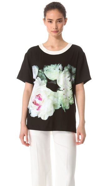Peter Som Jersey Floral Top