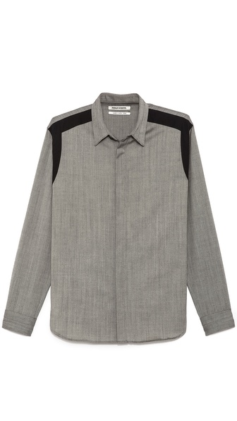 Public School Jersey Shirt with Contrast Shoulders