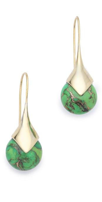 push BY PUSHMATAaHA Stone Drop Earrings