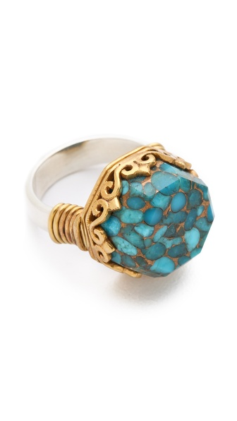 push BY PUSHMATAaHA Octagonal Monarch Ring