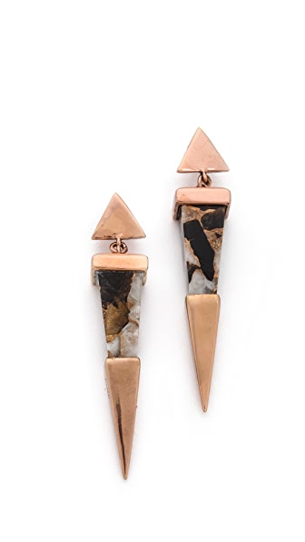 push BY PUSHMATAaHA Shard Earrings