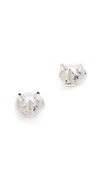 push BY PUSHMATAaHA Rhino Stud Earrings
