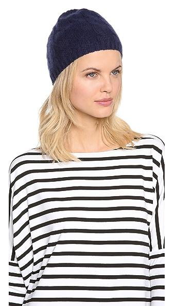 QUINN Cashmere Cable Knit Hat