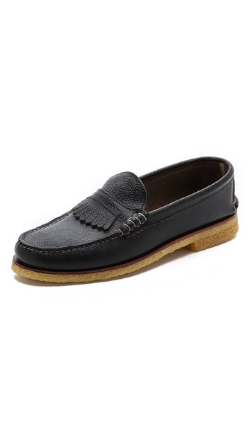 Quoddy Kiltie Crepe Loafers