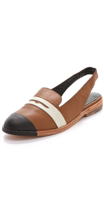 Rachel Comey Southpaw Penny Loafer Sling Backs