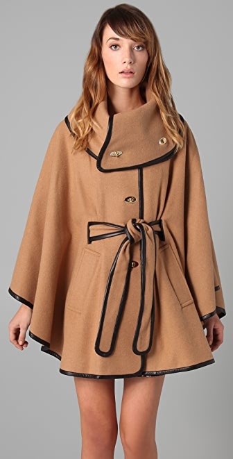 Rachel Zoe Ali Wrap Collar Cape
