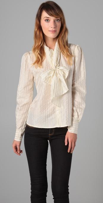 Rachel Zoe Colleen Tie Collar Blouse