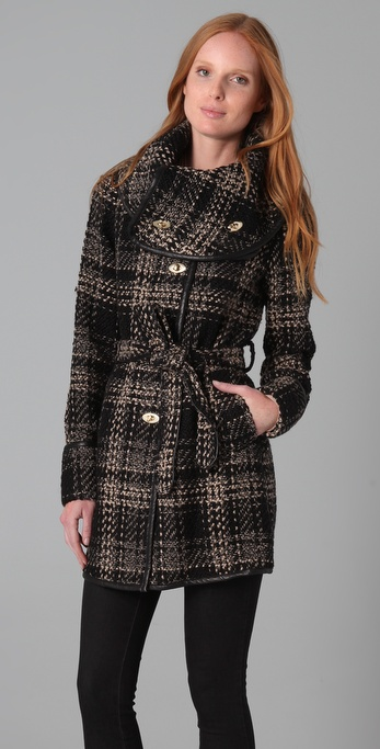 Rachel Zoe Gretta Wrap Collar Coat