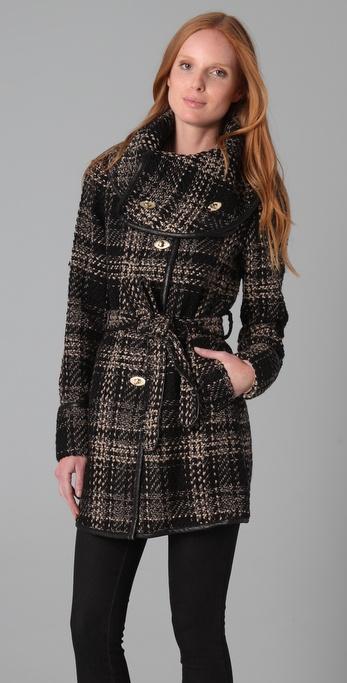 Rachel Zoe Gretta Wrap Collar Coat