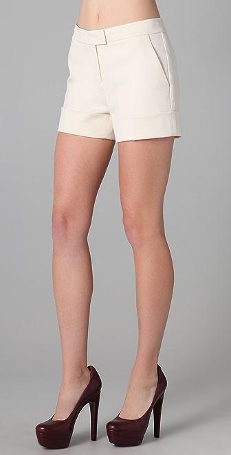 Rachel Zoe Gene Cuffed Tuxedo Shorts
