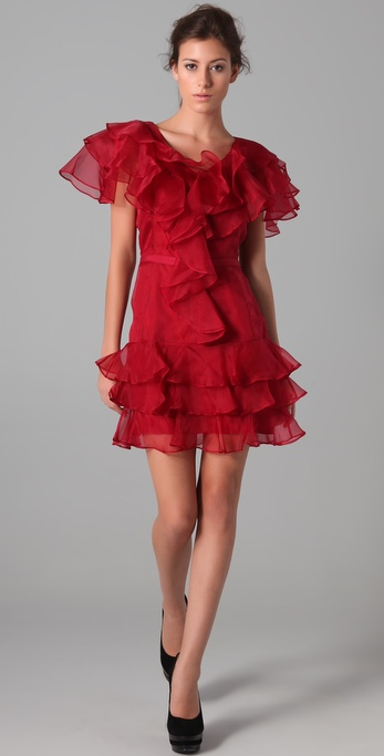 Rachel Zoe Ginger Tiered Ruffle Dress