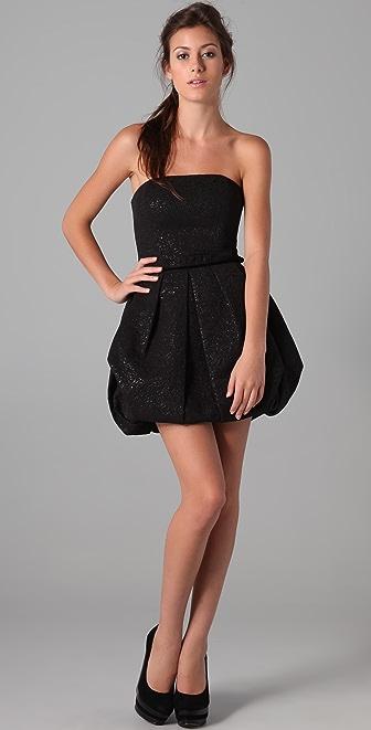 Rachel Zoe Strapless Bubble Skirt Dress