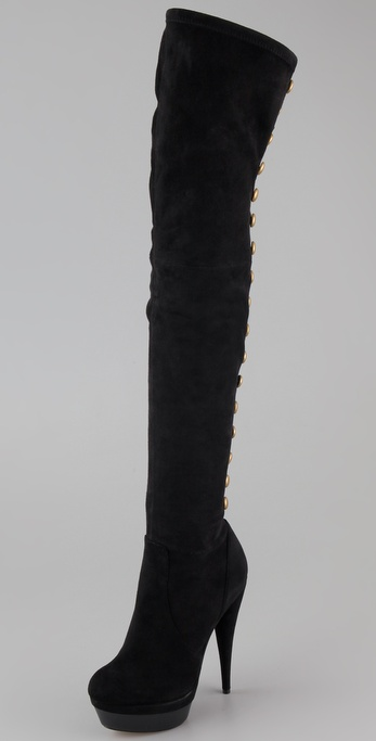 Rachel Zoe Brigitte Suede Over the Knee Boots