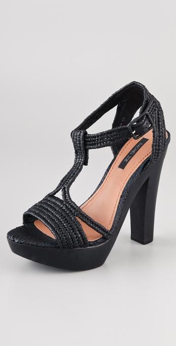 Rachel Zoe Anita Raffia Platform Sandals