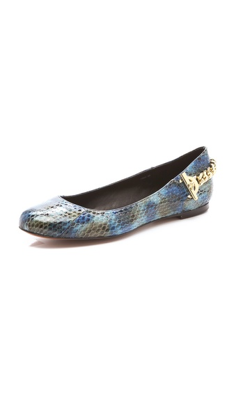 Rachel Zoe Laura Snakeskin Flats