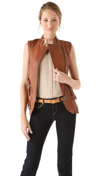 Rachel Zoe Nora Leather Vest