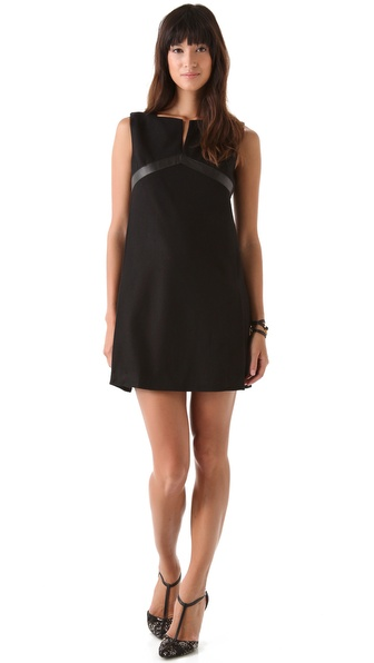 Rachel Zoe Eda Empire Trim Dress