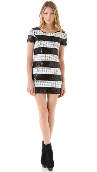 Rachel Zoe Karolina Stripe Sequin Dress
