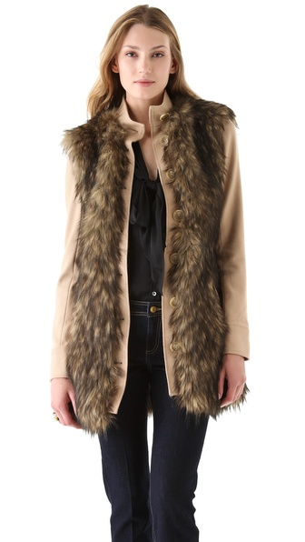 Rachel Zoe Marianna Long Faux Fur Jacket