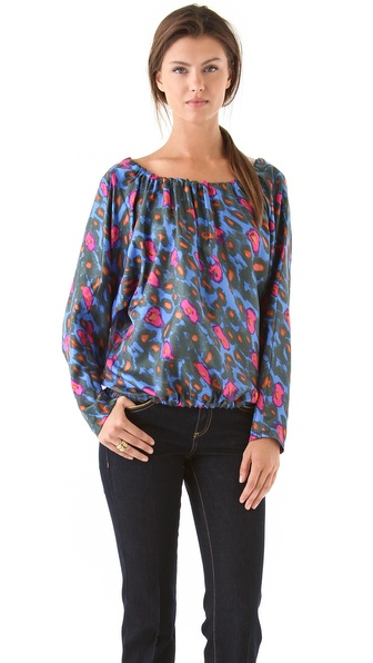 Rachel Zoe Bibi II Drawstring Dolman Blouse