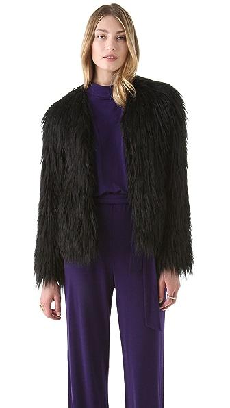 Rachel Zoe Brooklyn Faux Fur Coat