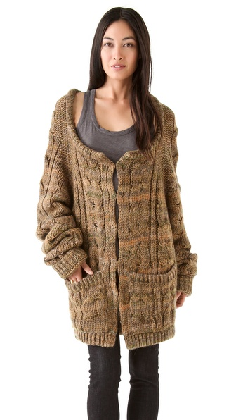 Rachel Zoe Beha Cable Knit Hoodie