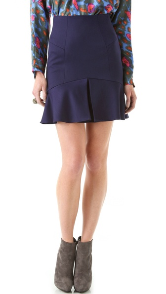 Rachel Zoe Lily Ruffle Hem Skirt