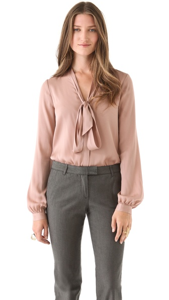 Rachel Zoe Nathalie Scarf Collar Top