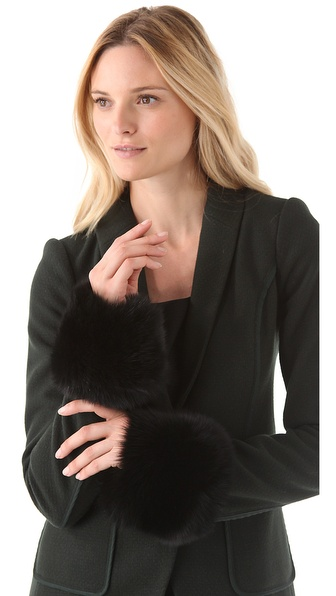 Rachel Zoe Fox Fur Wrist Cuff