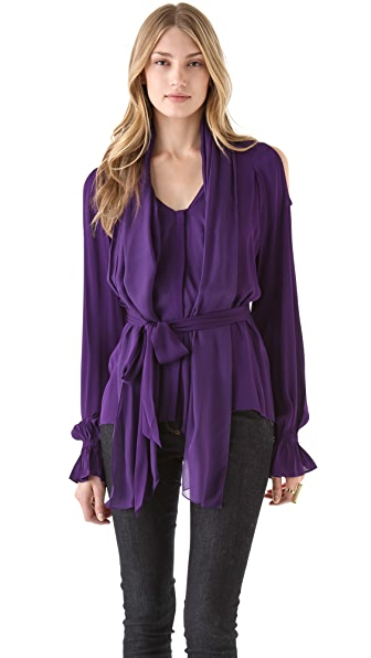 Rachel Zoe Gia Open Shoulder Top