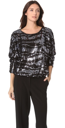 Shop Rachel Zoe Holly Sequin Dolman Top and Rachel Zoe online - Apparel,Womens,Tops,Blouse, online Store