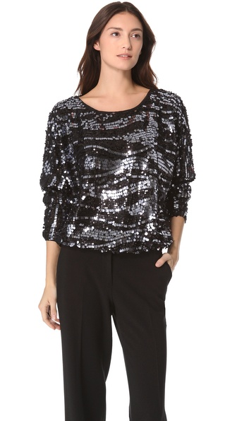 Rachel Zoe Holly Sequin Dolman Top