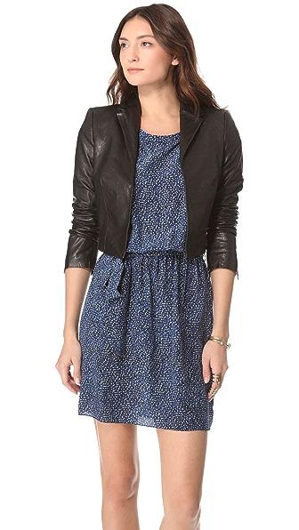 Rachel Zoe Bobby Leather Bolero Jacket