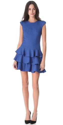 Rachel Zoe Ginta Drop Waist Ruffle Dress