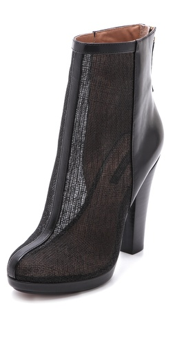 Rachel Zoe Maddy Raffia Platform Booties at Shopbop.com