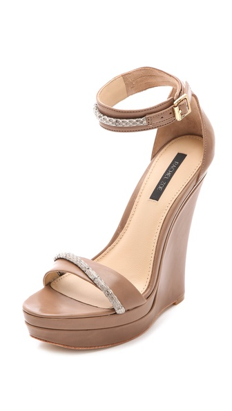 Rachel Zoe Katlyn Snake Wedge Sandals