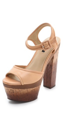 Rachel Zoe Evelyn Cork Platform Sandals at Shopbop.com
