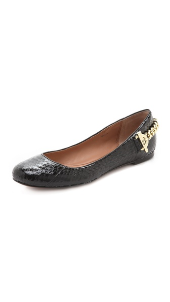 Rachel Zoe Laura Snake Ballet Flats