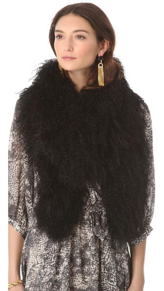 Rachel Zoe Tubular Fur Scarf