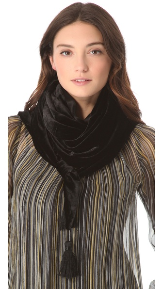 Rachel Zoe Velvet Triangle Scarf