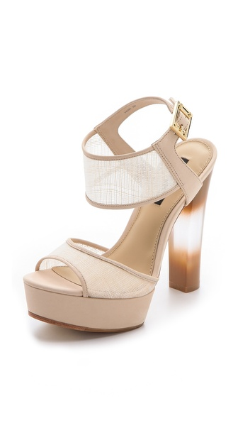Rachel Zoe Lexi Raffia Platform Sandals