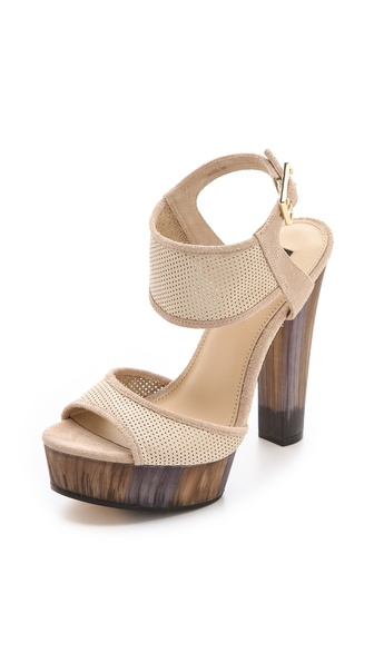 Rachel Zoe Lexi Perforated Platform Sandals