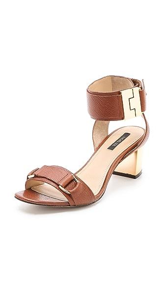 Rachel Zoe Madeline Metallic Heel Sandals
