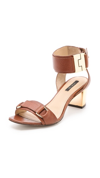 Rachel Zoe Madeline Metallic Heel Sandals