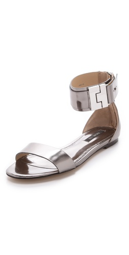 Rachel Zoe Gladys Metallic Leather Sandals at Shopbop image