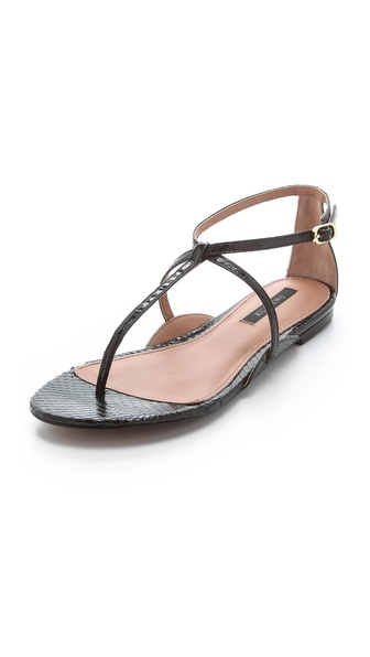 Rachel Zoe Gwen Snakeskin Sandals