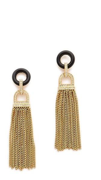 Rachel Zoe Onyx Tassel Earrings