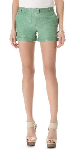 Rachel Zoe Justin Leather Shorts